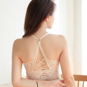 Beautiful Beige Bralette with Hollow Back